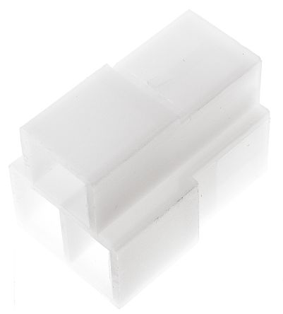TE Connectivity AMP FASTIN-FASTON Series, 3 Way Nylon 66 Crimp Terminal Housing, 6.35mm Tab Size, Natural (25)