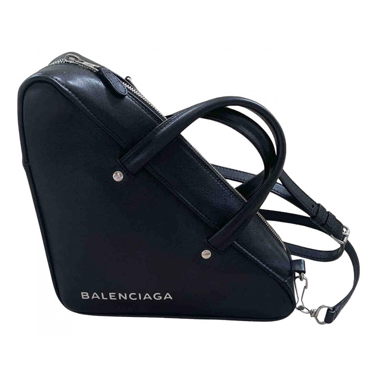 Balenciaga - Sac a main Triangle pour femme en cuir - noir