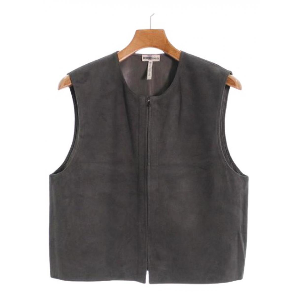 Hermes \N Pullover.Westen.Sweatshirts  in  Grau Veloursleder