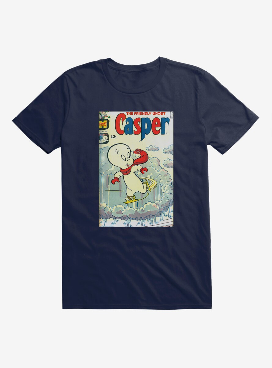 Casper The Friendly Ghost Skating Comic Cover T-Shirt
