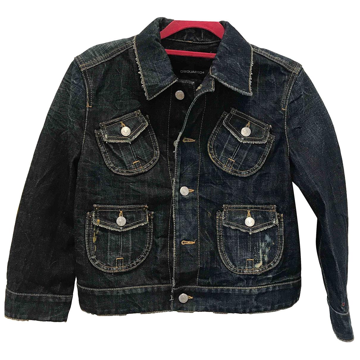 Dsquared2 \N Blue Denim - Jeans jacket for Women 42 IT