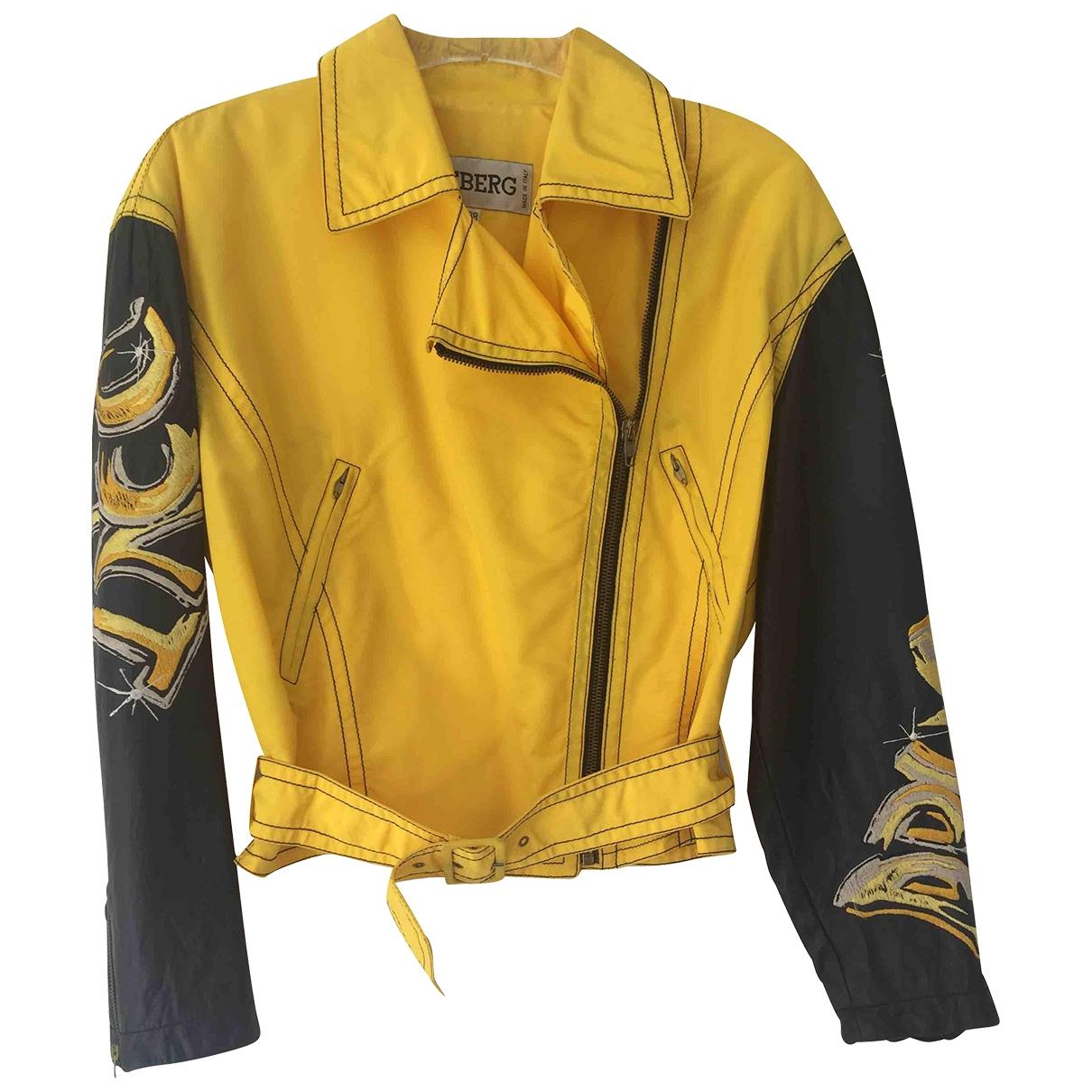 Iceberg - Veste   pour femme en cuir - jaune