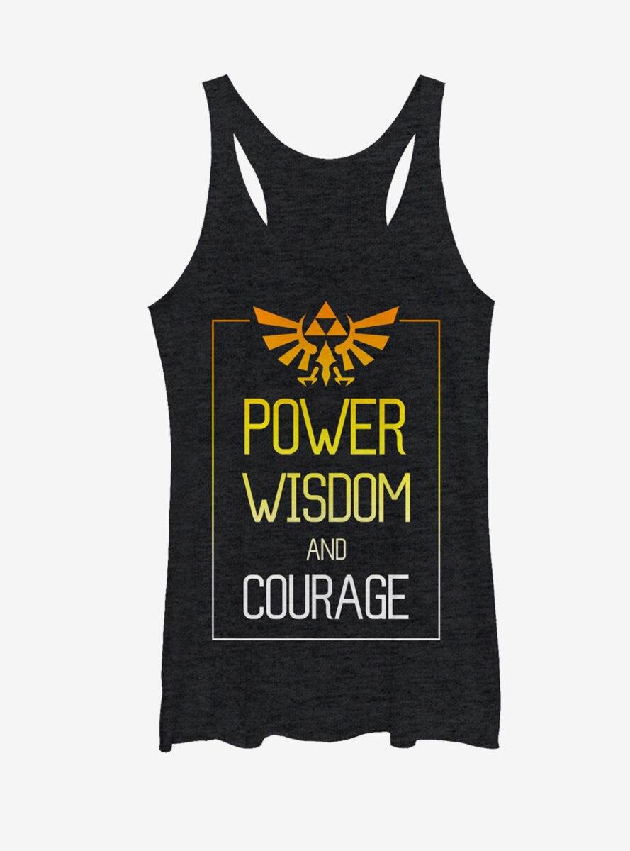 Nintendo Legend of Zelda Power Wisdom Courage Womens Tank