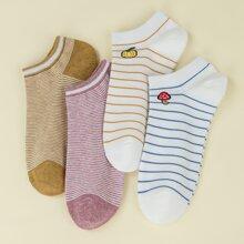 4 piezas calcetines con patron