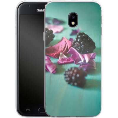 Samsung Galaxy J3 (2017) Silikon Handyhuelle - Stills Flowers Fruit von Joy StClaire
