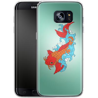 Samsung Galaxy S7 Edge Silikon Handyhuelle - Koi Carp von Mark Ashkenazi