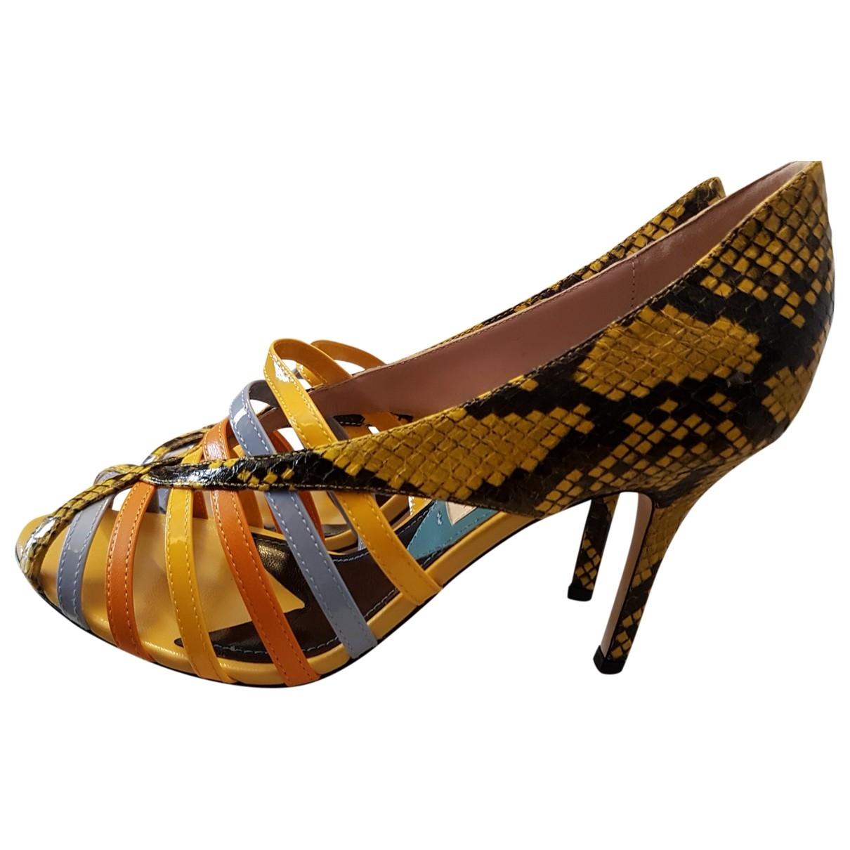 Emilio Pucci \N Multicolour Python Sandals for Women 37.5 EU
