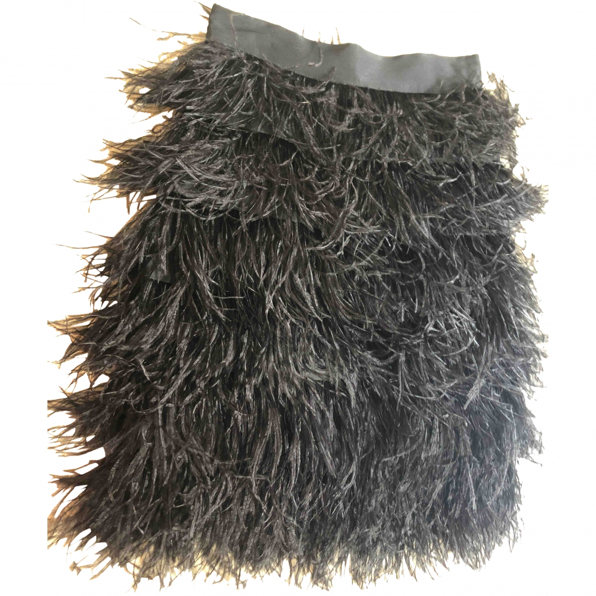 Milly - Jupe   pour femme en fourrure - noir