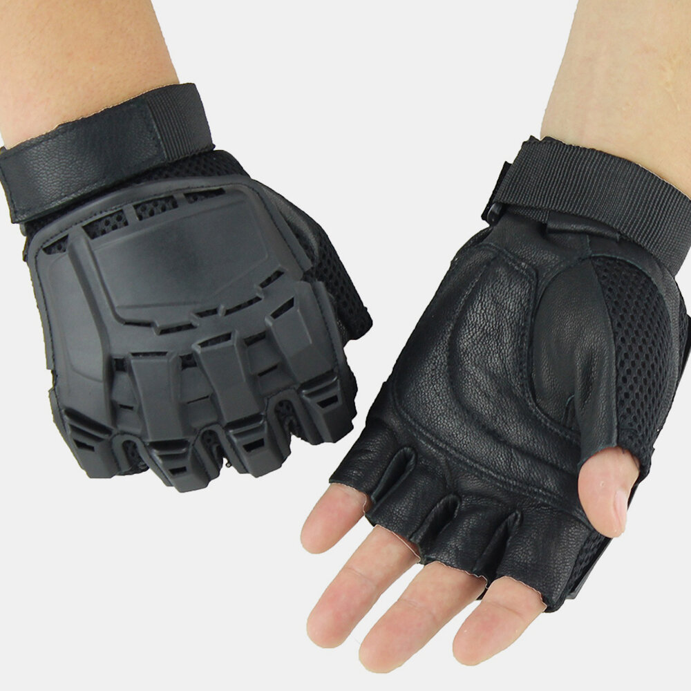 Outdoor Tactical Gloves Motorcycle Riding Mountaineering Half-finger Gloves