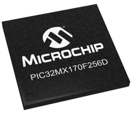Microchip PIC32MX170F256D-I/TL, 32bit PIC32MX Microcontroller, PIC32MX, 50MHz, 256 + 3 kB Flash, 44-Pin VTLA (2)