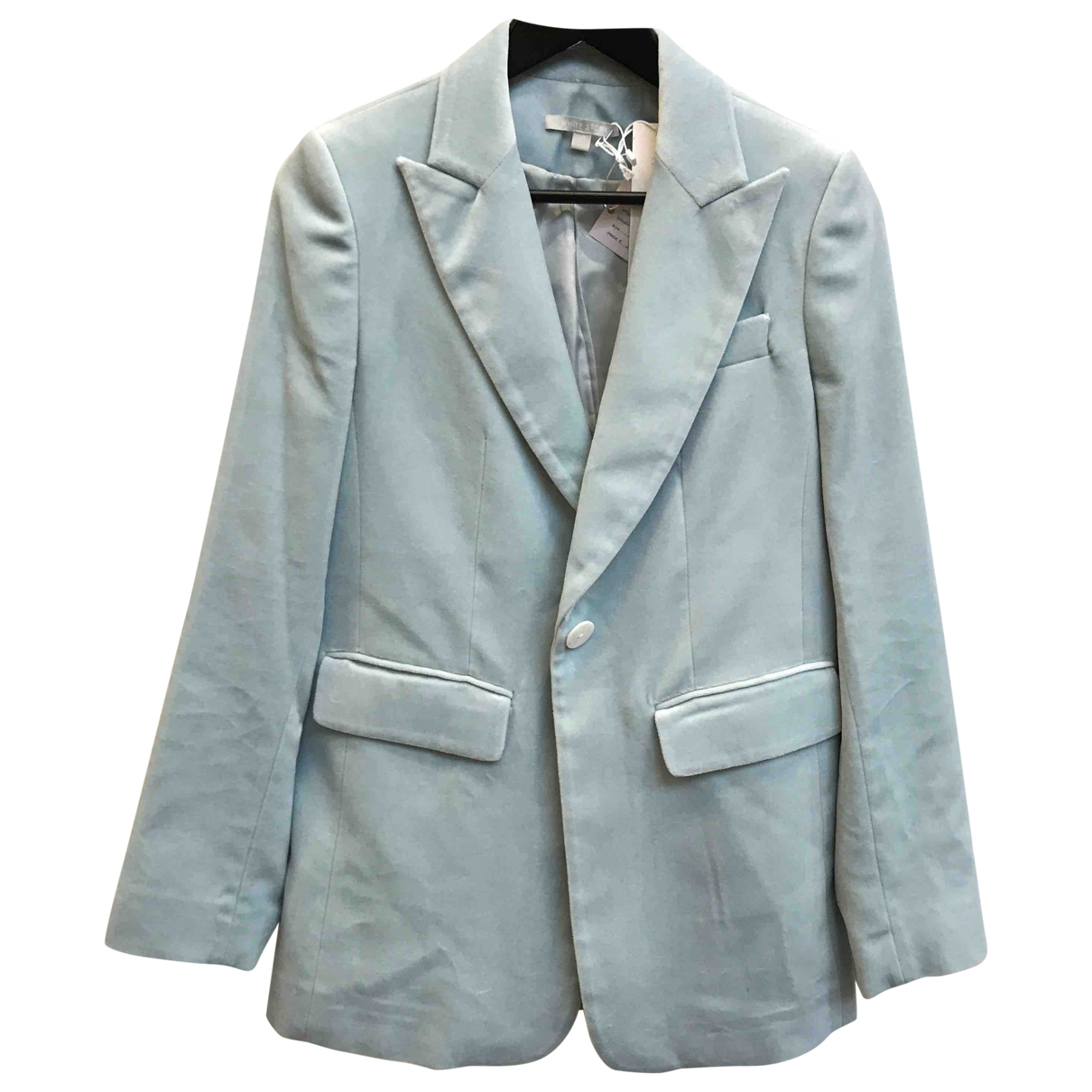 Non Signé / Unsigned \N Blue Cotton jacket for Women 10 UK