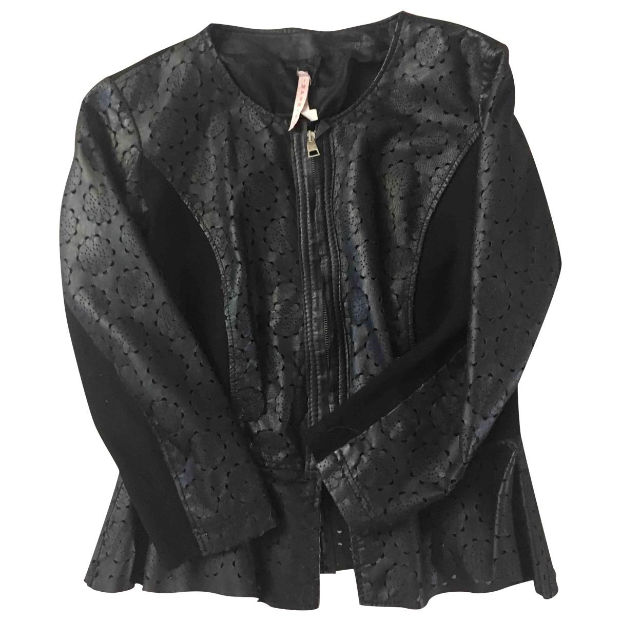 Imperial - Blouson   pour femme en cuir - noir