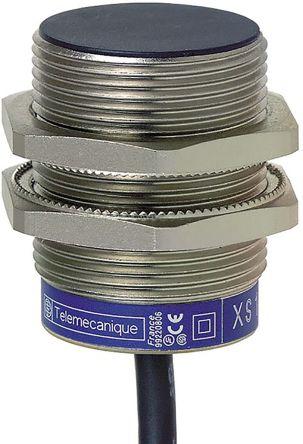Telemecanique Sensors M30 x 1.5 Inductive Sensor - Barrel, PNP-NO/NC Output, 10 mm Detection, IP68, Cable Terminal