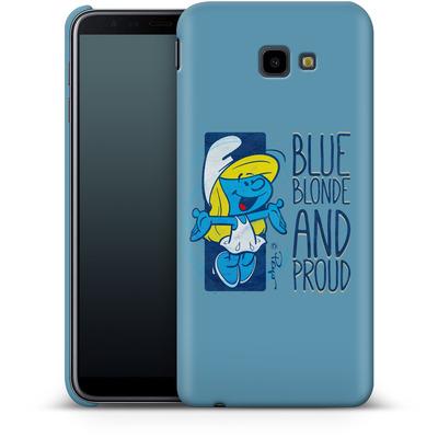 Samsung Galaxy J4 Plus Smartphone Huelle - Blue, Blond and Proud von The Smurfs