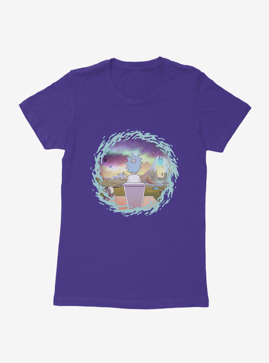 Rick And Morty The Old Man And The Seat Womens T-Shirt