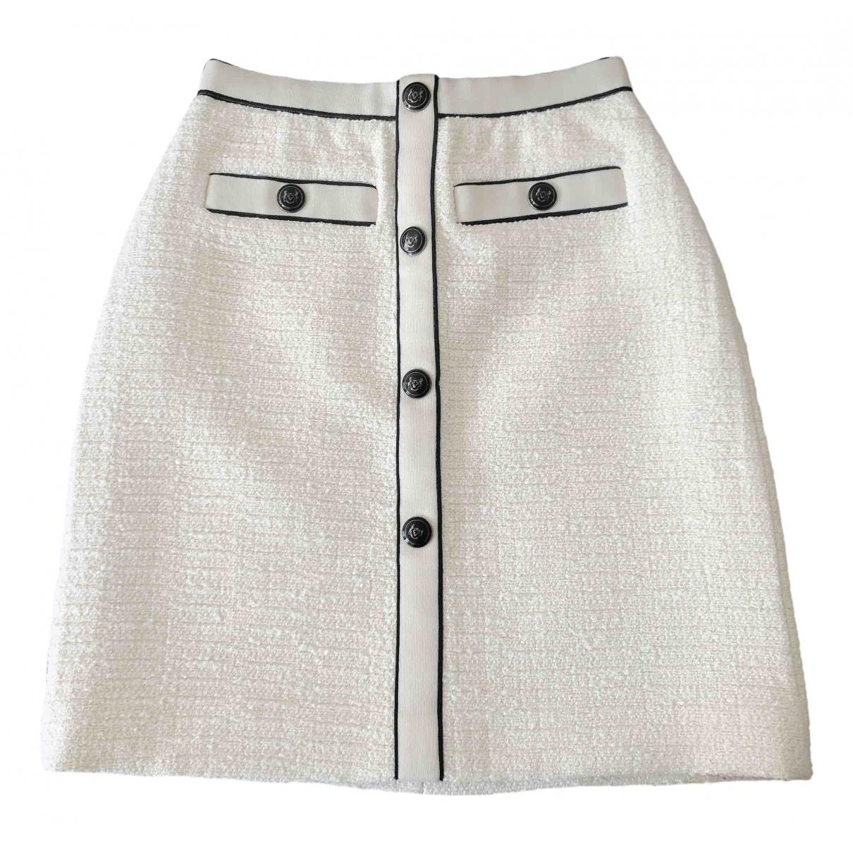 Maje Fall Winter 2019 White Cotton skirt for Women 36 FR