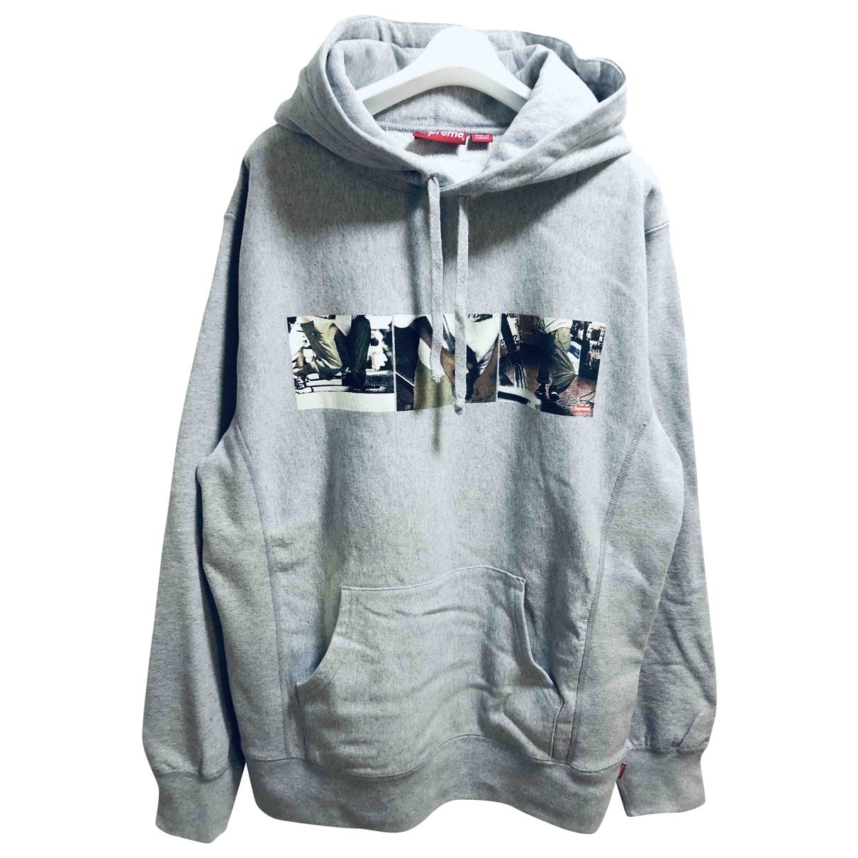 Supreme \N Pullover.Westen.Sweatshirts  in  Grau Baumwolle