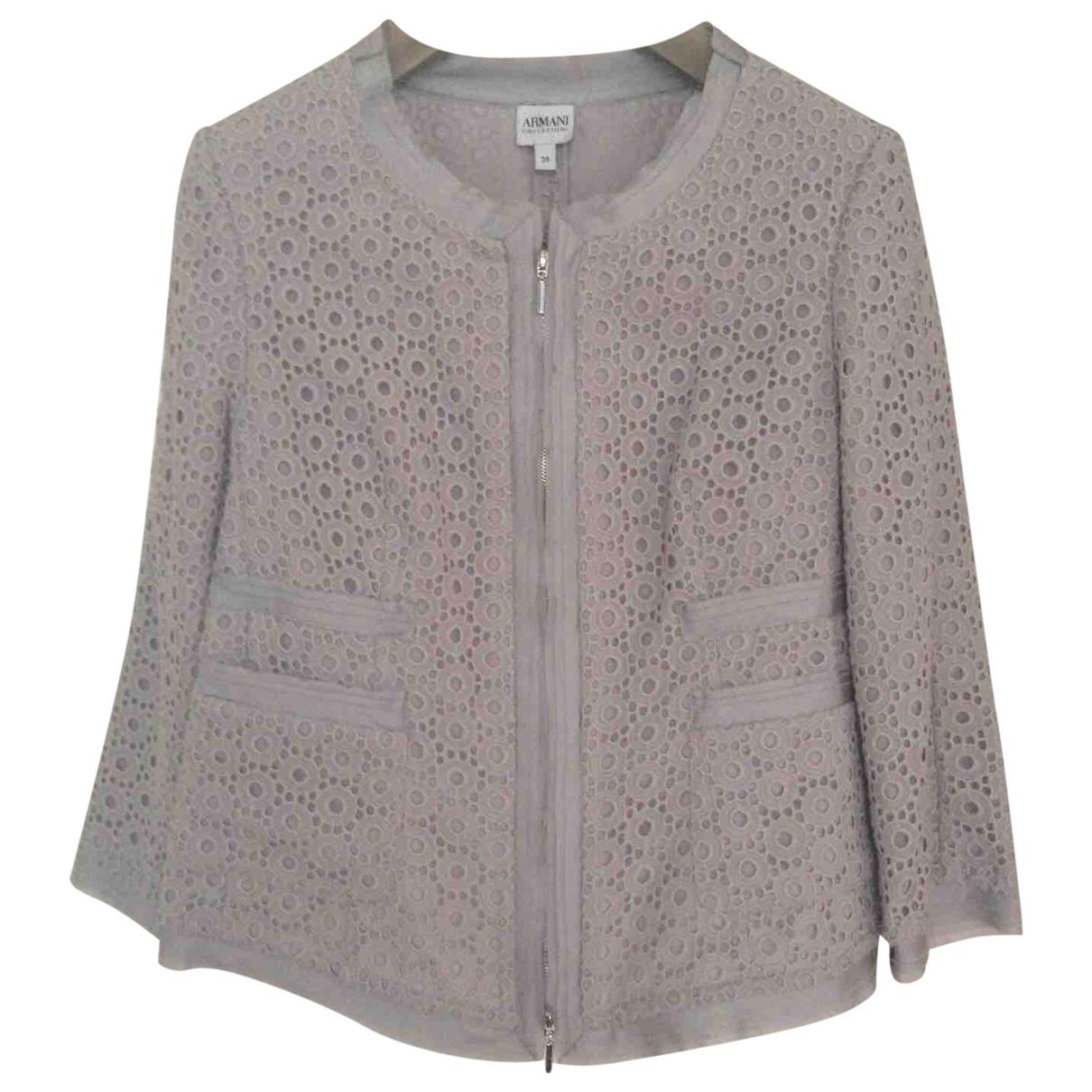 Armani Collezioni \N Blue Cotton jacket for Women 38 IT