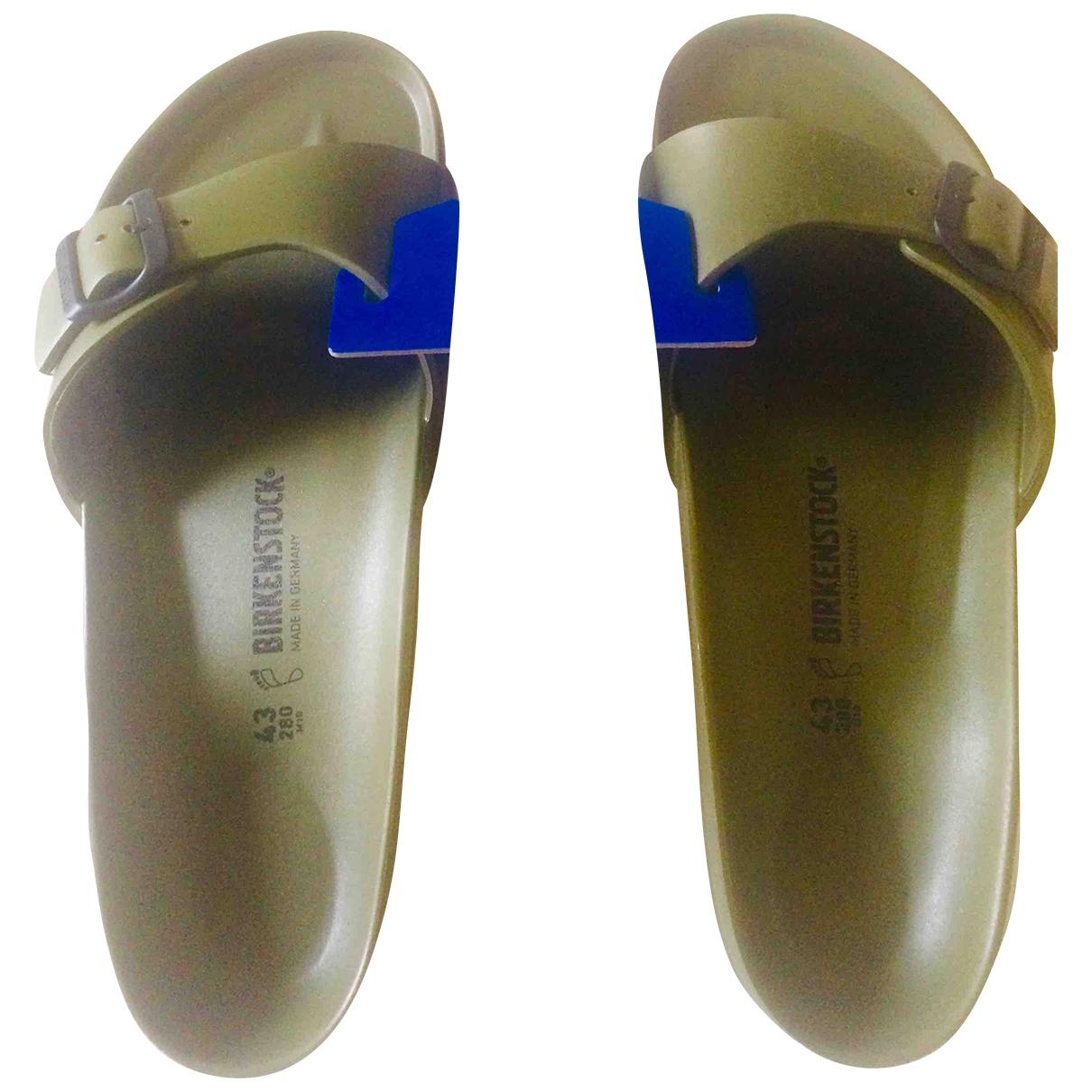 Birkenstock - Sandales   pour homme en caoutchouc - vert