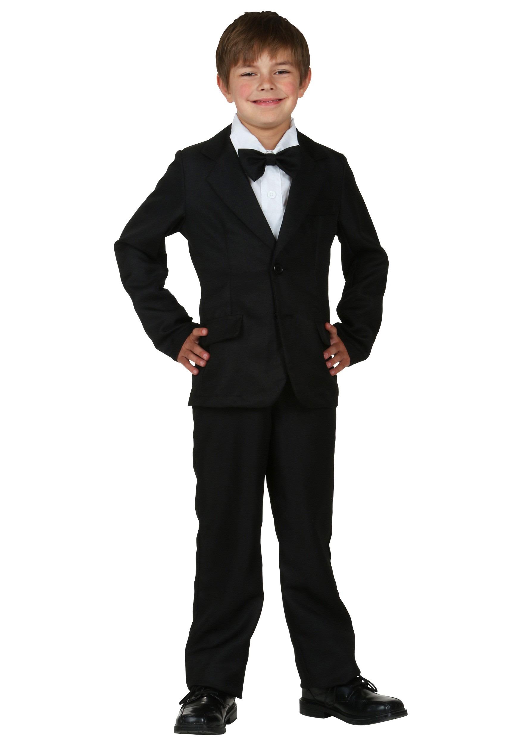 Black Suit for Kids Costume