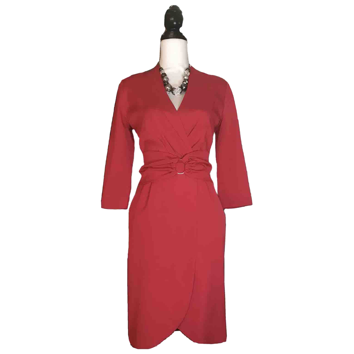 Reiss \N Kleid in  Rot Viskose