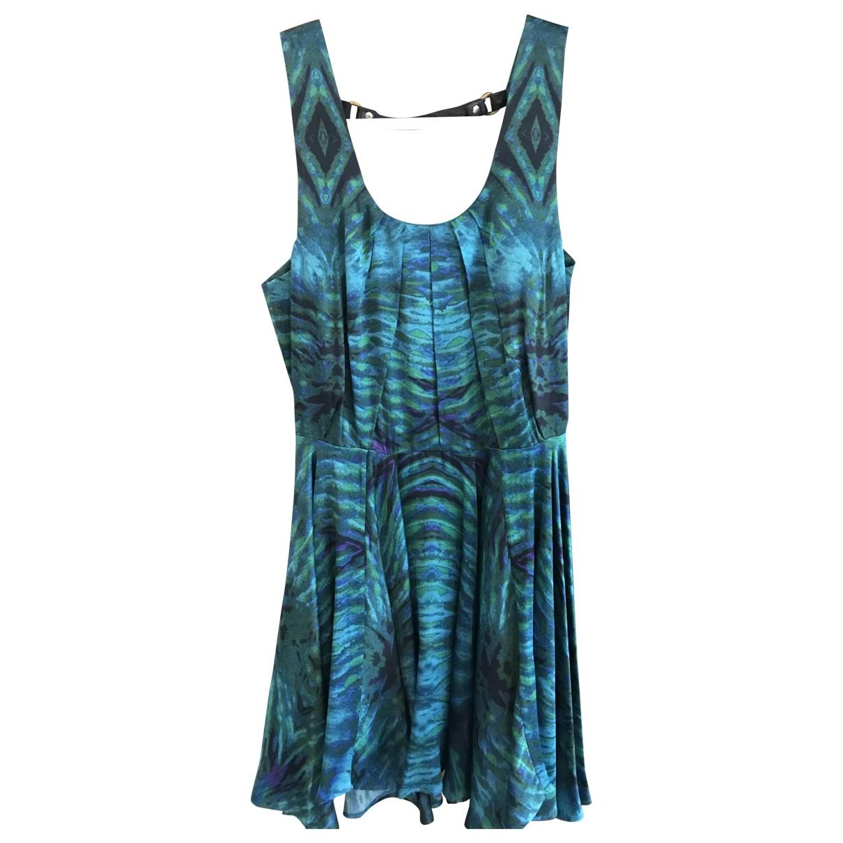Felder Felder \N Kleid in  Blau Seide
