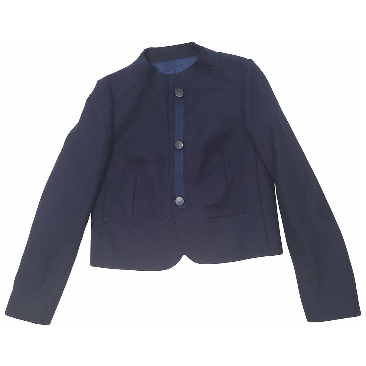 Massimo Dutti - Veste   pour femme en coton - bleu