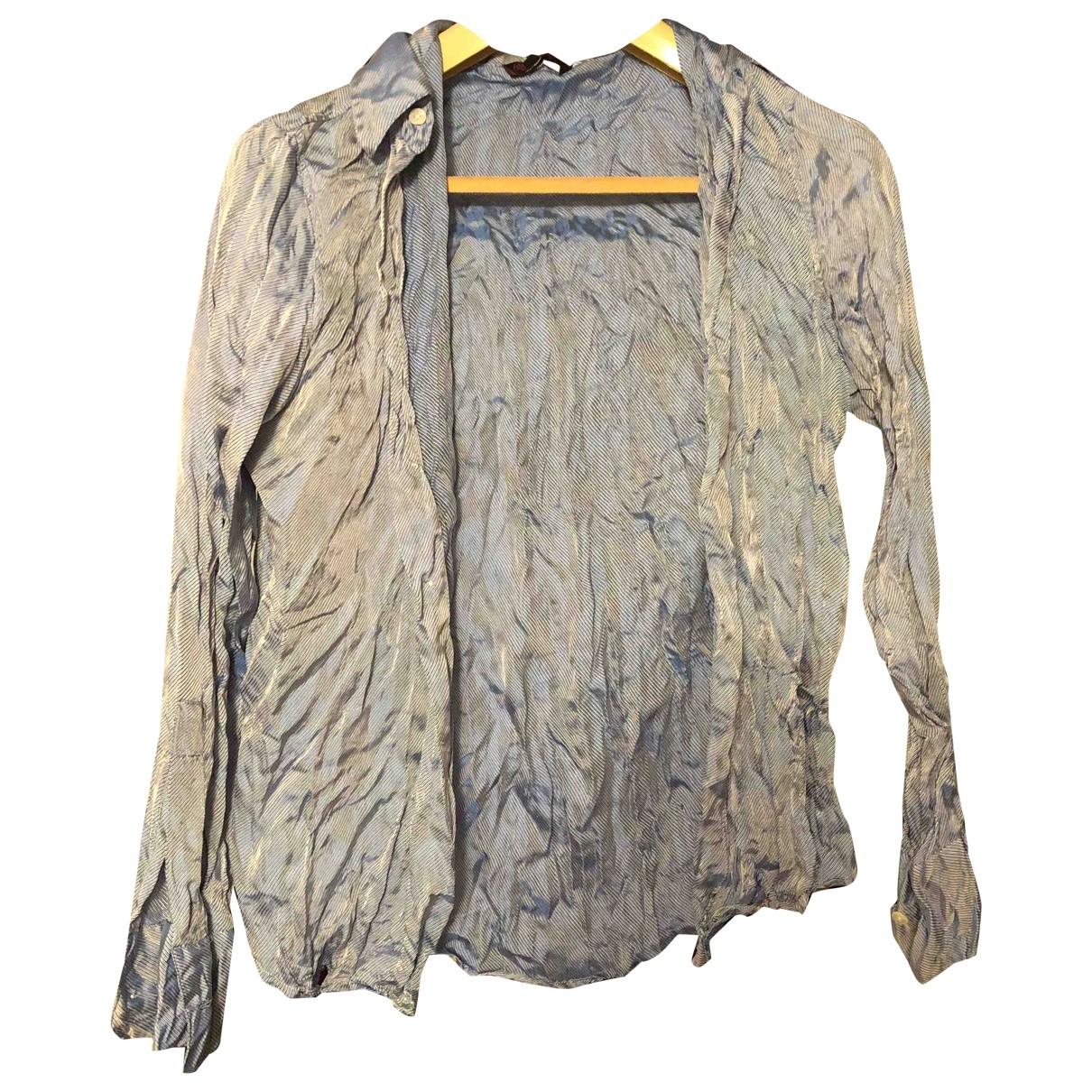 Roberto Cavalli - Chemises   pour homme en soie - bleu