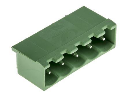RS PRO , 5 Way, 1 Row, Vertical PCB Terminal Block Header (10)