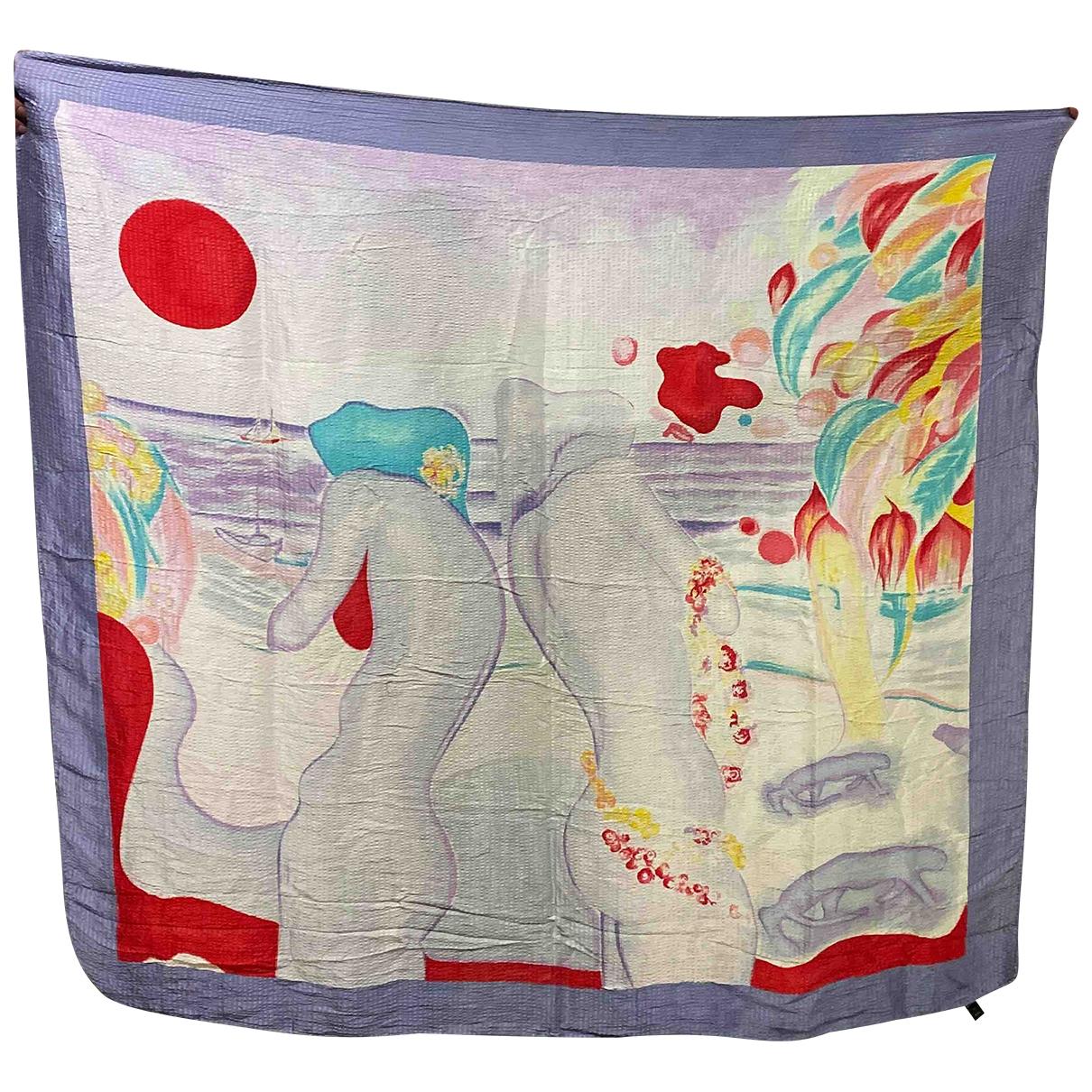 Louis Feraud - Foulard   pour femme en soie - multicolore