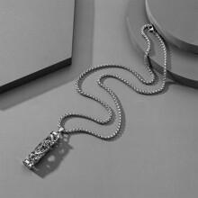Maenner Geometric Charm Halskette