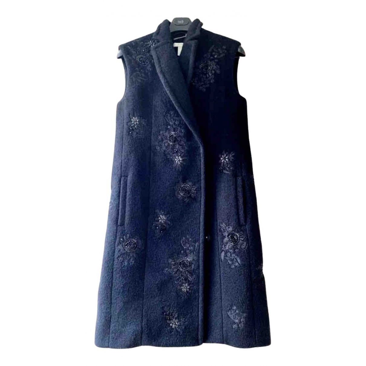 Erdem N Black Wool coat for Women 8 UK