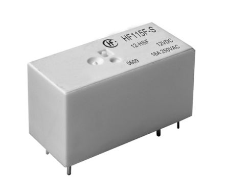 Hongfa Europe GMBH , 12V dc Coil Non-Latching Relay SPNO, 16A Switching Current PCB Mount Single Pole