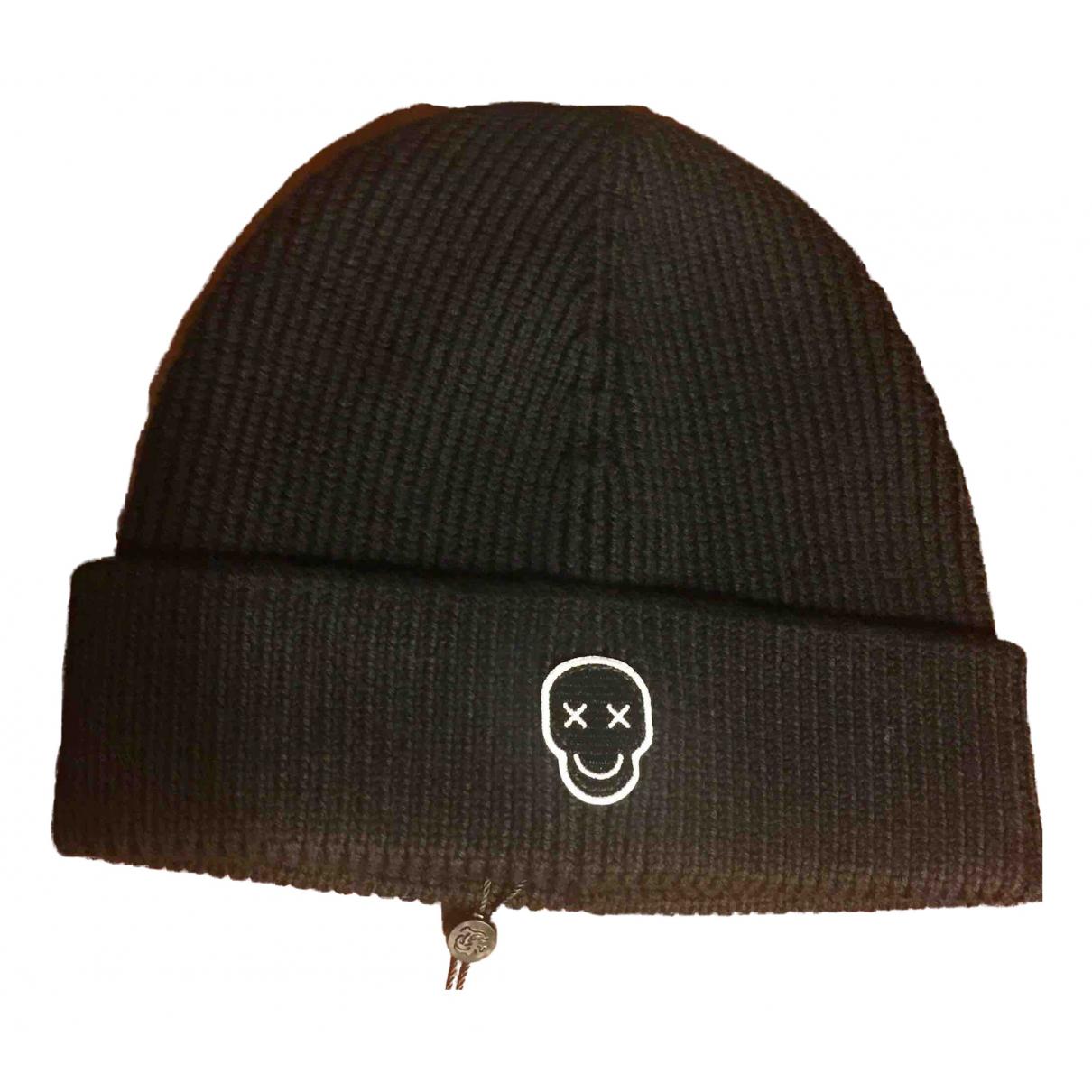 The Kooples - Chapeau & Bonnets   pour homme en laine - noir