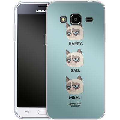 Samsung Galaxy J3 (2016) Silikon Handyhuelle - Facial Expressions von Grumpy Cat