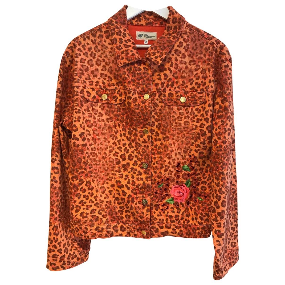 Blumarine \N Multicolour Cotton jacket for Women 50-52 IT