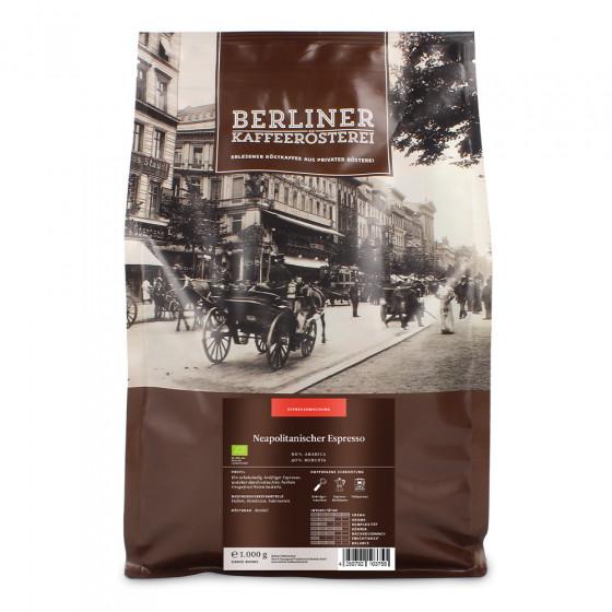 """Kaffeebohnen Berliner Kaffeerosterei """"Neapolitanischer Espresso Bio"""", 1 kg"""
