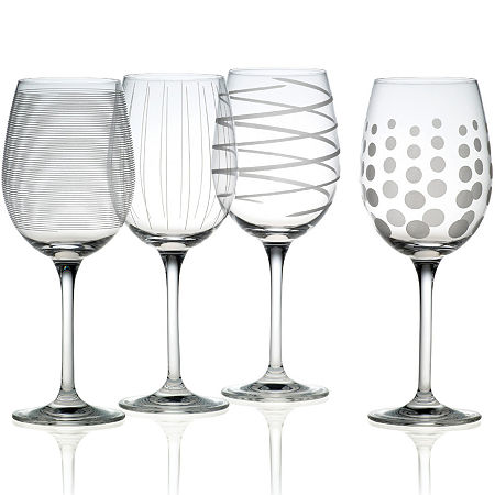 Mikasa Cheers Set of 4 White Wine Glasses, One Size , Multiple Colors