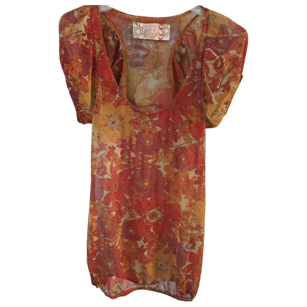Zara \N Kleid in  Gold Polyester