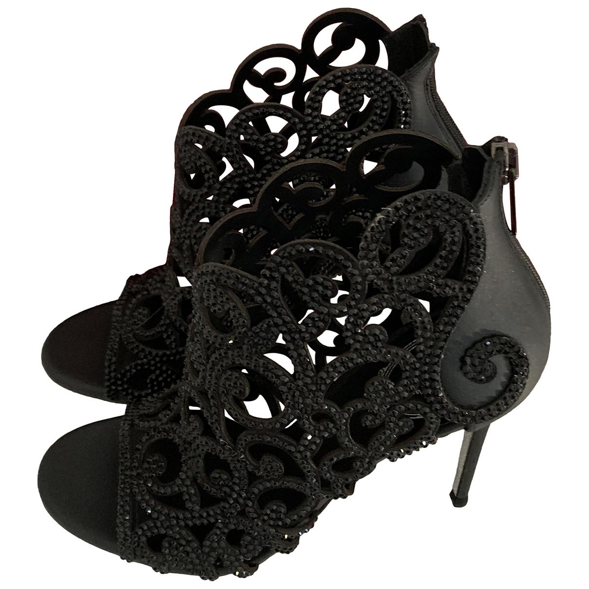 Rene Caovilla \N Black Leather Sandals for Women 36.5 IT