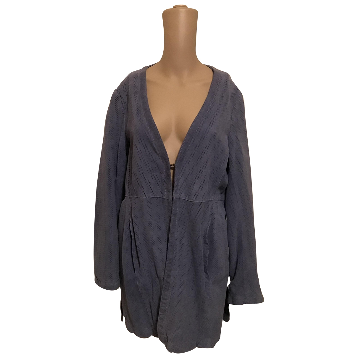 Non Signé / Unsigned \N Suede jacket for Women 46 IT