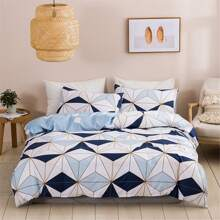 Geometric Pattern Duvet Cover Without Filler