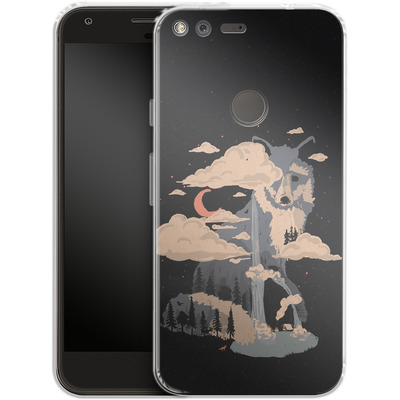 Google Pixel Silikon Handyhuelle - At the foot of fox mountain von ND Tank