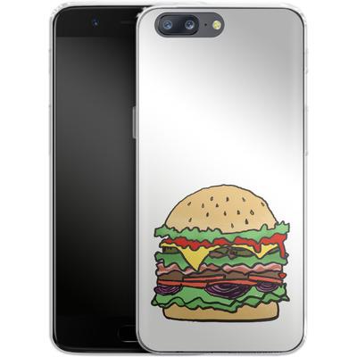 OnePlus 5 Silikon Handyhuelle - Burger von caseable Designs