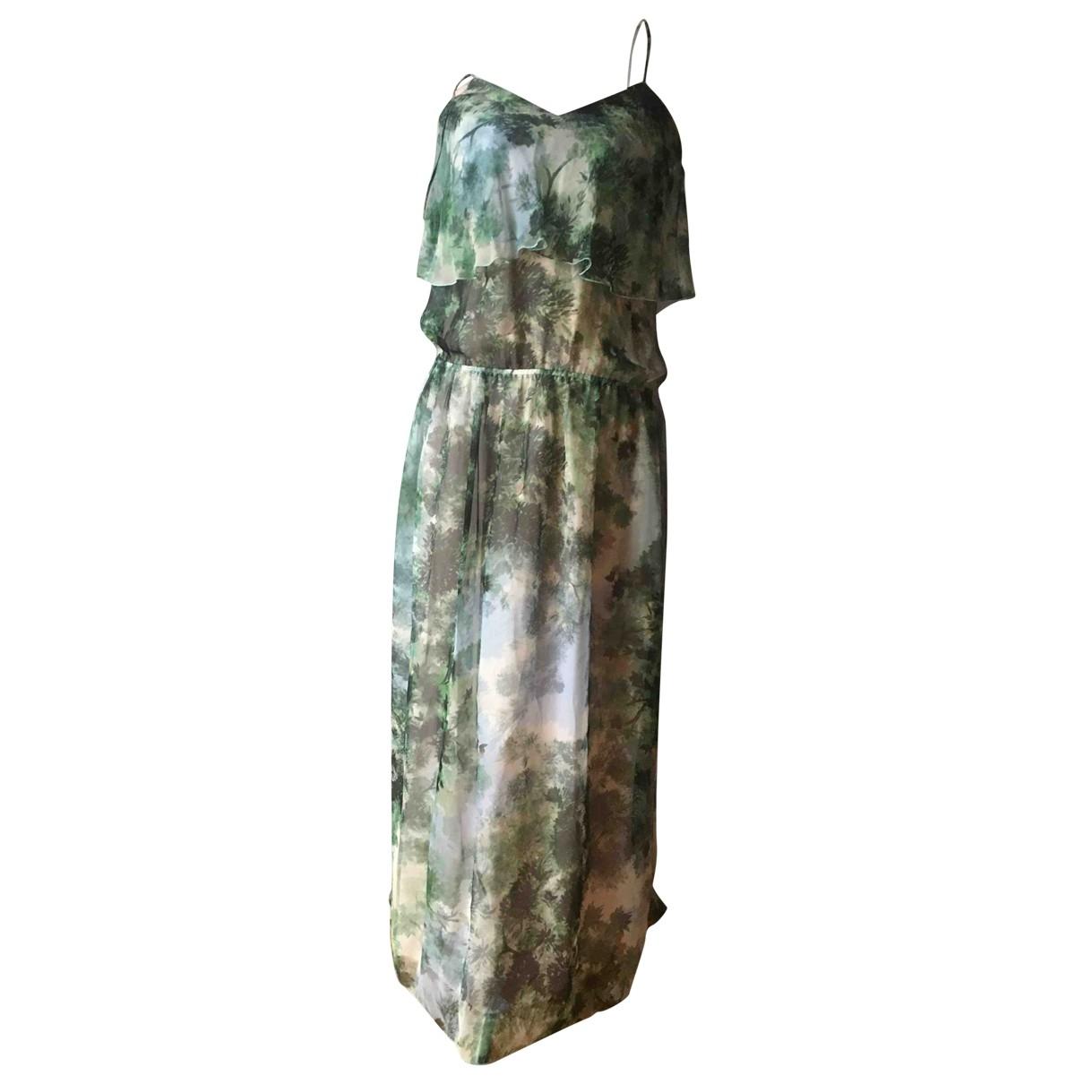Max Mara - Robe   pour femme en soie - vert