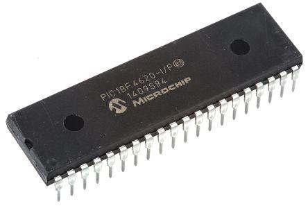 Microchip PIC18F4620-I/P, 8bit PIC Microcontroller, PIC18F, 40MHz, 1.024 kB, 64 kB Flash, 40-Pin PDIP