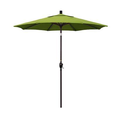 GSPT758117-5429 7.5' Pacific Trail Series Patio Umbrella With Bronze Aluminum Pole Aluminum Ribs Push Button Tilt Crank Lift With Sunbrella 2A Macaw