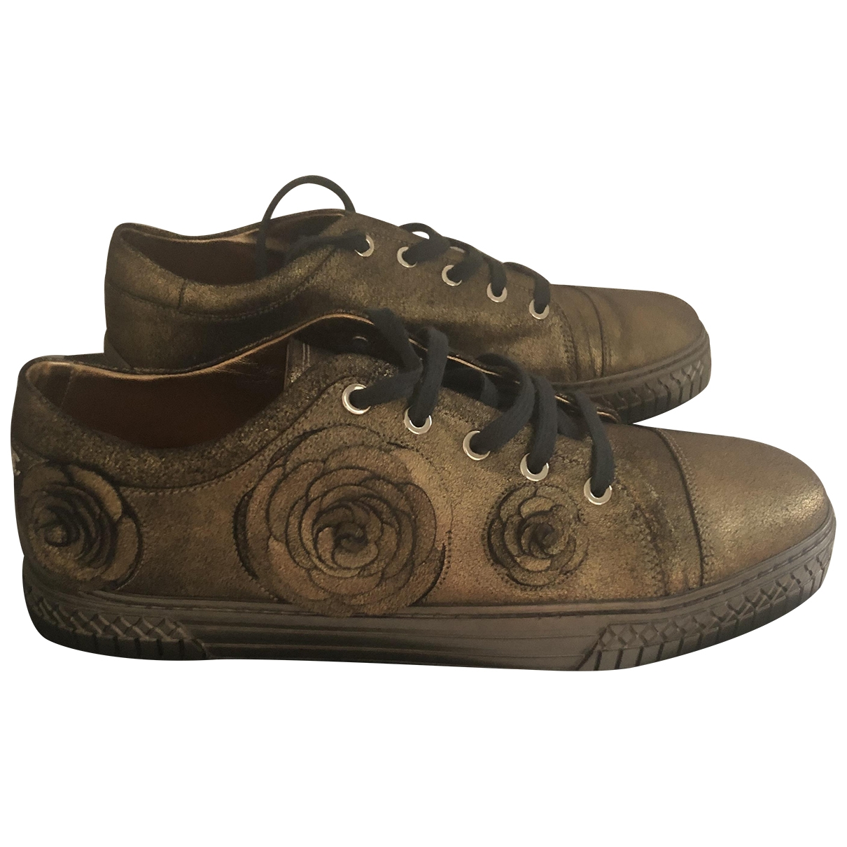 Chanel \N Gold Leather Trainers for Women 39.5 EU