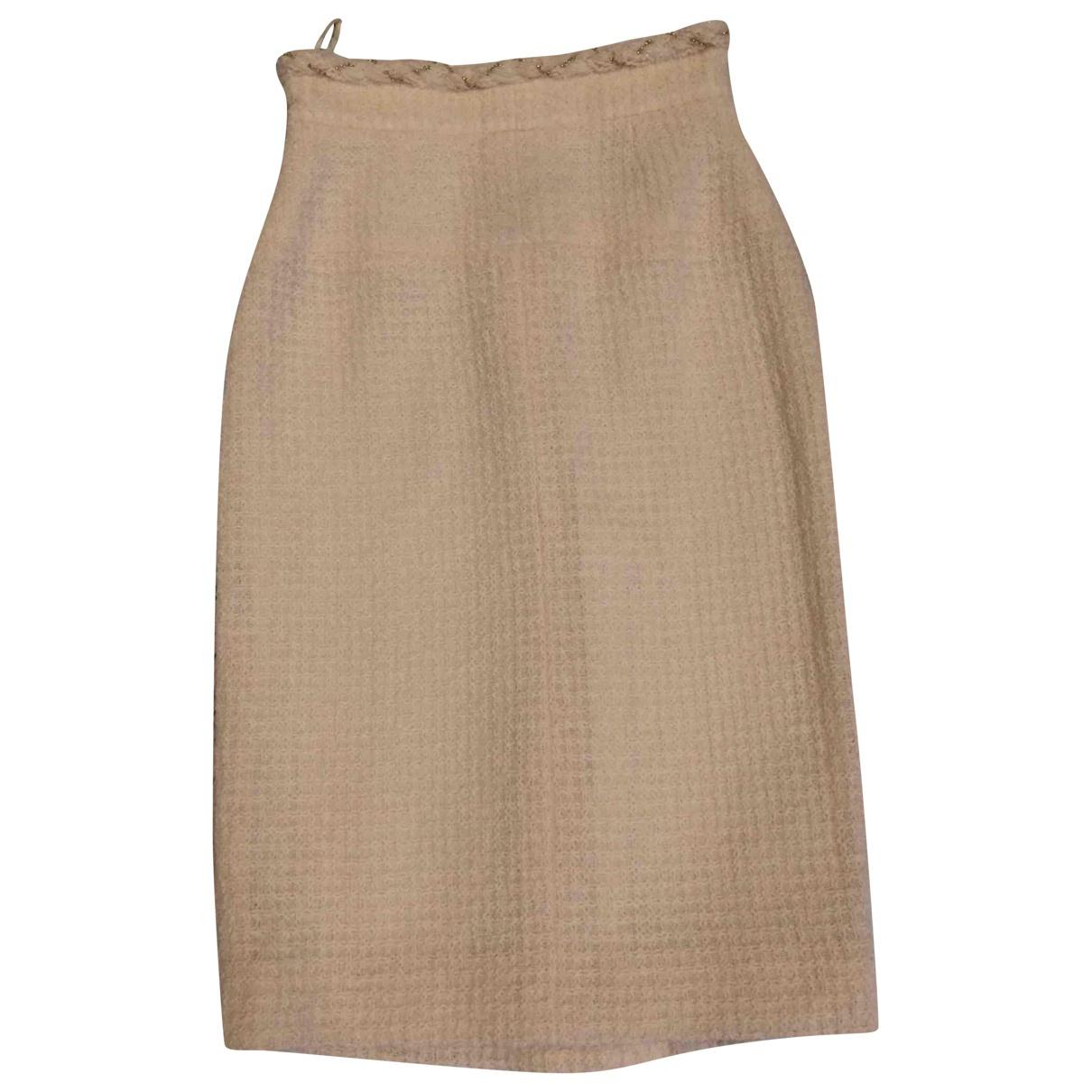 Chanel - Jupe   pour femme en tweed - ecru