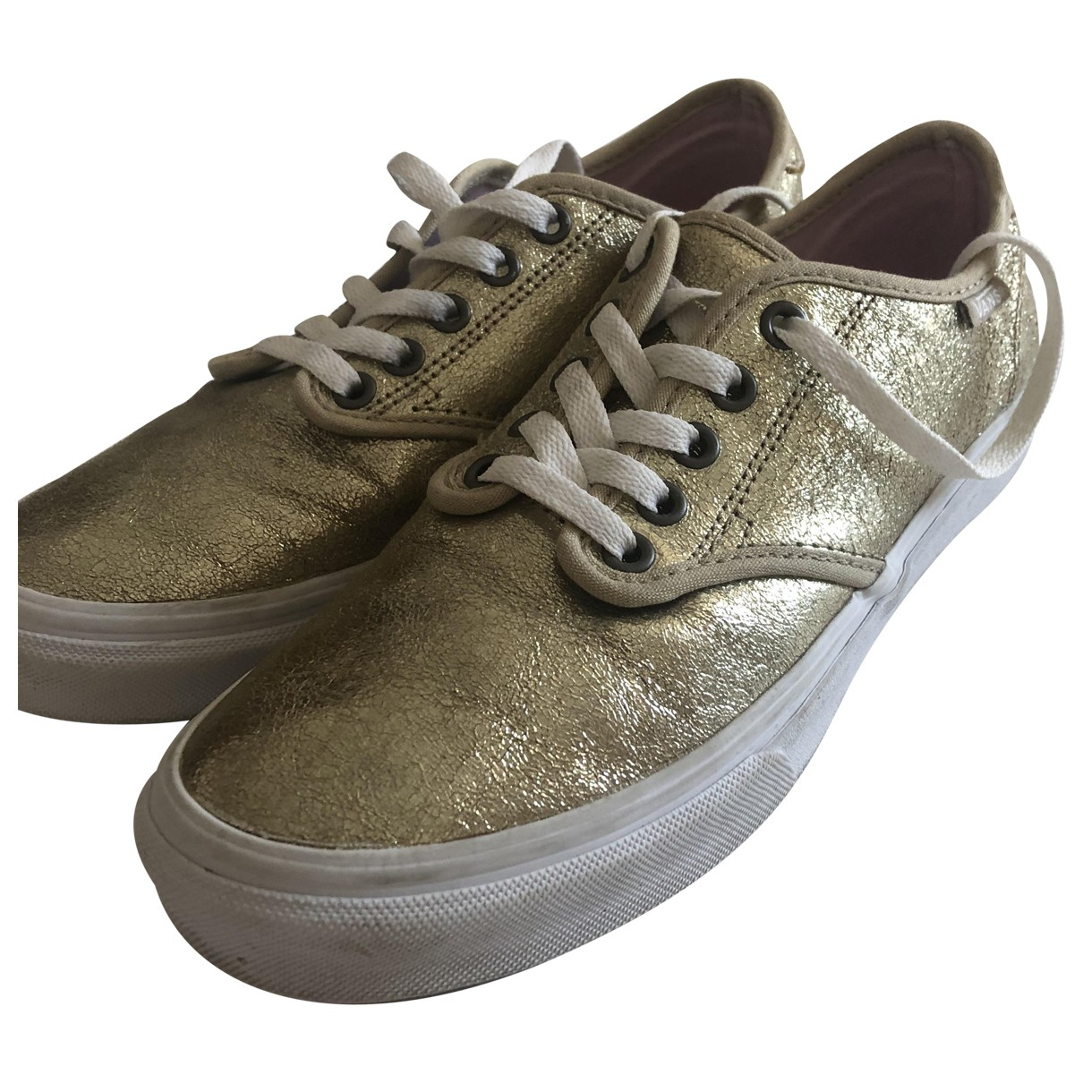 Vans \N Gold Patent leather Trainers for Women 40 EU
